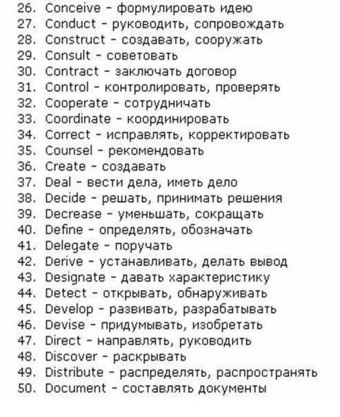 150 основных английских глаголов в алфавитном порядке