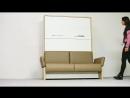 Шкаф кровать диван со съёмными подлокотниками. Wall Bed SOFA SOFT