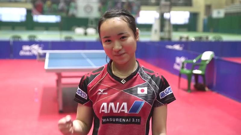 Mima Ito Hina Hayata takes on the TableTennis Challenge