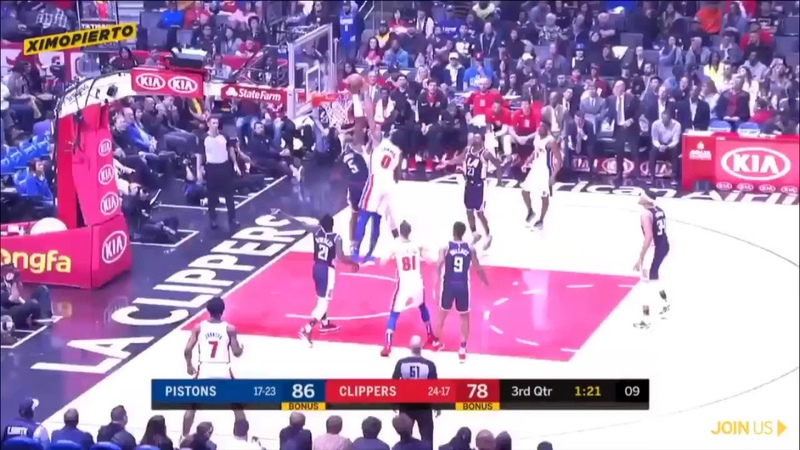 Andre Drummond Posterizes and demolishes Montrezl Harrell