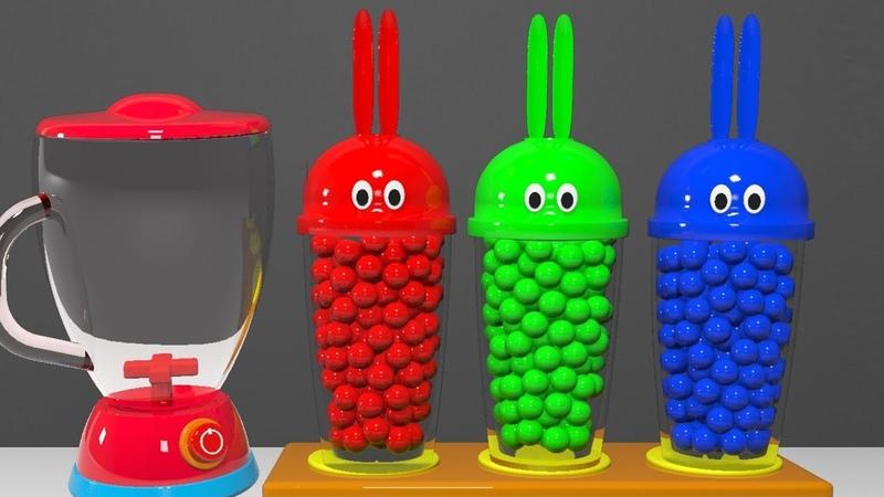 Bunny Mold. Learn Colors. .Blender Toy. Surprise Egg PibaTV
