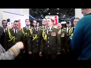 Хор МВД исполняет Get Lucky в прямом эфире (6 sec)