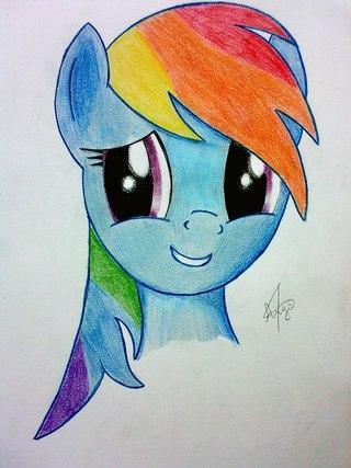 Рисунок пони карандашом - 5