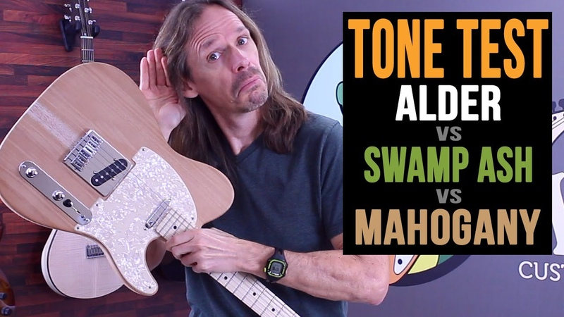 Alder vs Swamp Ash vs Mahogany Guitar Body Wood Tone Test