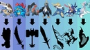 Pokemon as Weapons Requests 30 All Water Type Starters Pokemon Gen 1 to 7 Final Evolutions