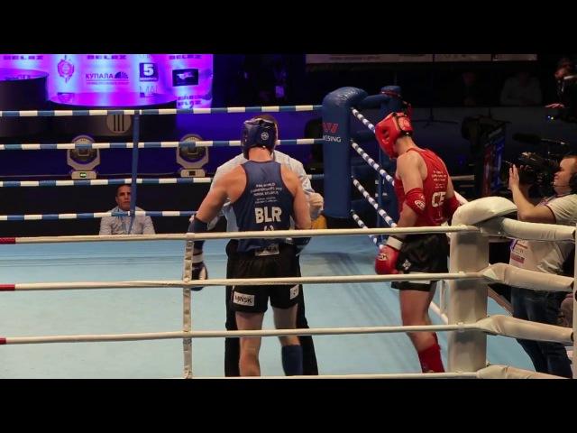 Тайский бокс: Гончаренок Денис (Беларусия) - Якуб Клауда (Чехия), видео, 91кг, Финал
