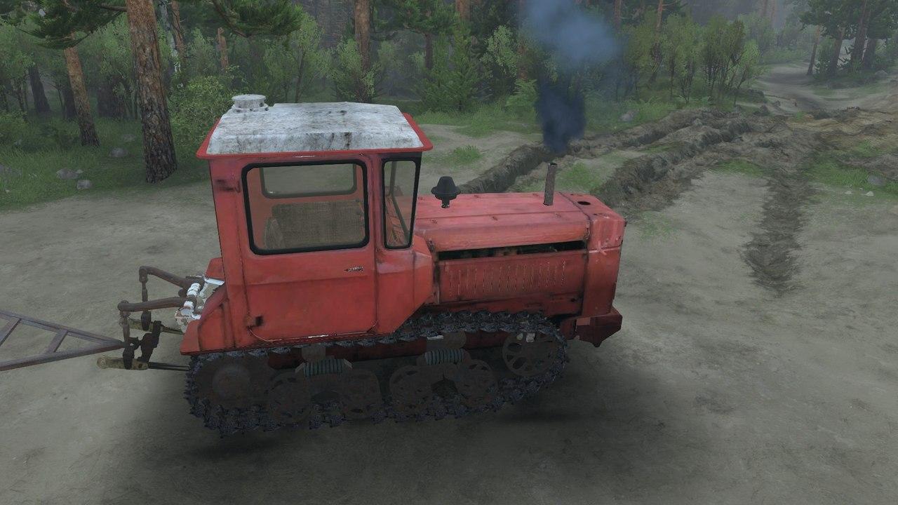 Трактор ДТ-75 v1.3 для версии 03.03.16 для Spintires - Скриншот 1