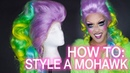How To Style a Mohawk Wig! Rainbow Unicorn Mohawk Tutorial