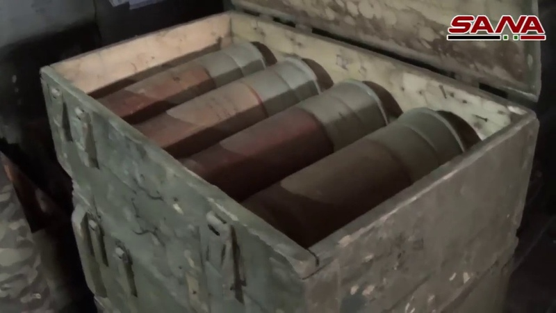 The army combed the silks of the silk and barbed the countryside of Daraa and found weapons and ammunition, some of them Israeli