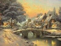 Купить набор для вышивания крестиком Maia Каменный мостик на Рождество (Томас Кинкейд) (арт.