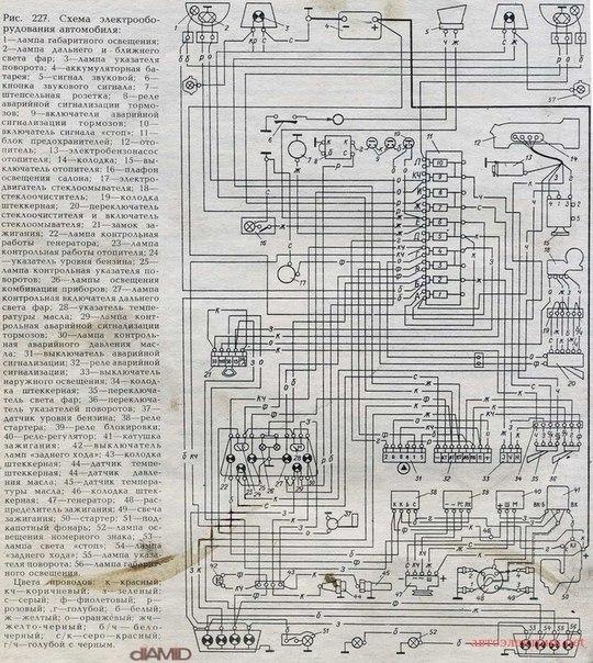 Схема электрооборудования ЗАЗ