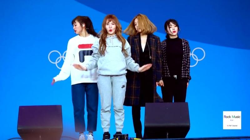 180220 Red Velvet – Peek-A-Boo @ PyeongChang Winter Olympics Headliner Show Rehersal Fancam