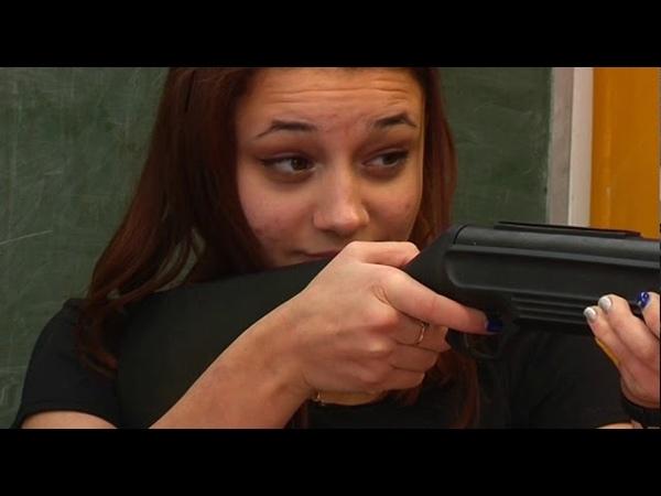 Юные Шарыповцы соревновнуются в стрельбе из пневматической винтовки