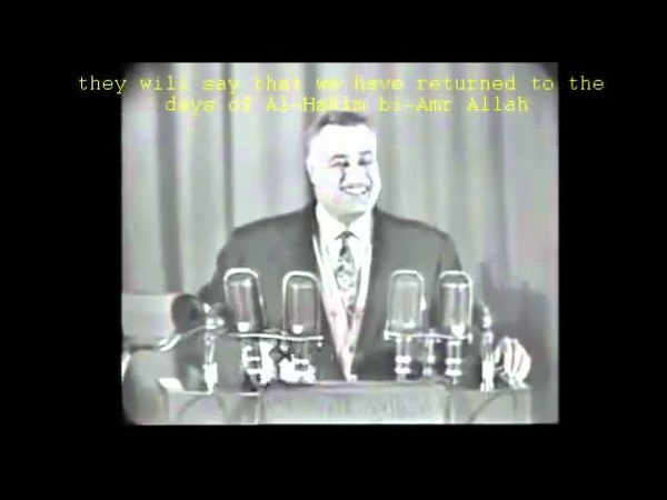 Egyptian leader Gamal Abdel Nasser laughing at hijab requirement in 1958 (subtitled)