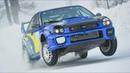 420HP Subaru Impreza WRX STI Snow Spec'd in Action at Livigno Ice Track