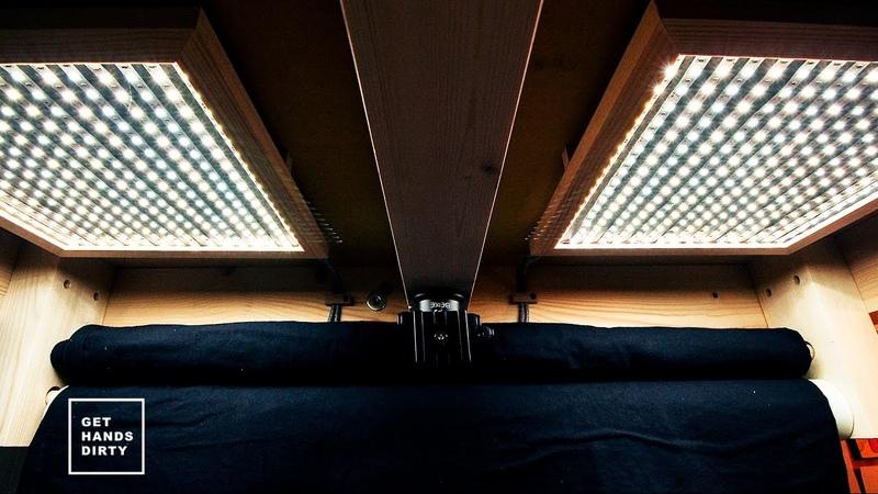 Loft Bed Work Space : LED Light Panels - Ep. 5