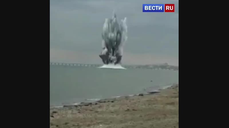 Очевидцы сняли на видео взрыв мины на пляже Анапы