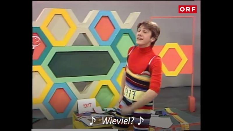 Christoph Waltz in der Kindersendung Am, Dam, Des 1977