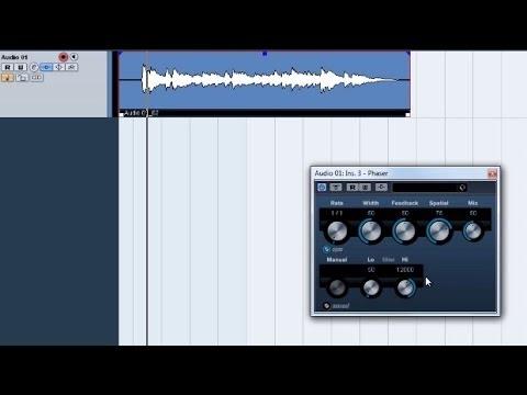 Video Tutorial de Chorus, Phaser, Flanger, Vibrato y Tremolo Efectos de modulación en Cubase.