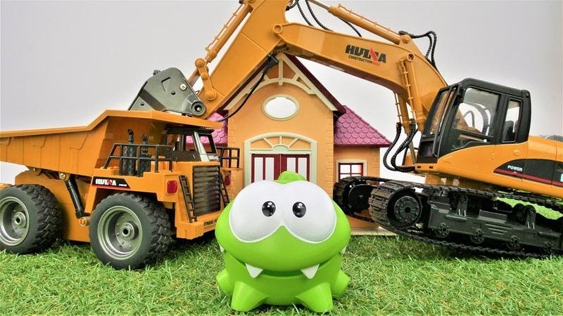 Видео с игрушками. Ам Ням и машинки. Мультики для малышей.