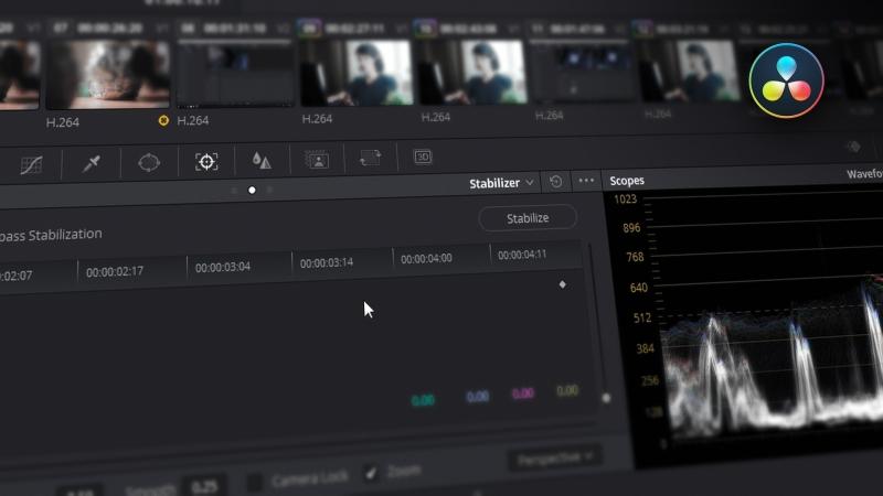 Стабилизация видео в DaVinci Resolve
