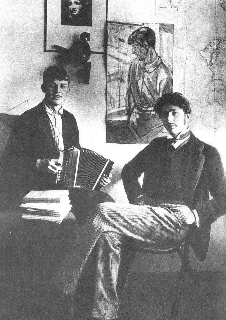 Сергей Есенин и Сергей Городецкий, Санкт-Петербург, Россия, 1915 год.