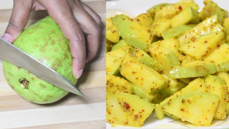 Tasty Masala Pyara (Guava) Makha Recipe | Indian Street Food Recipes | Bengali Style by mojar recipe