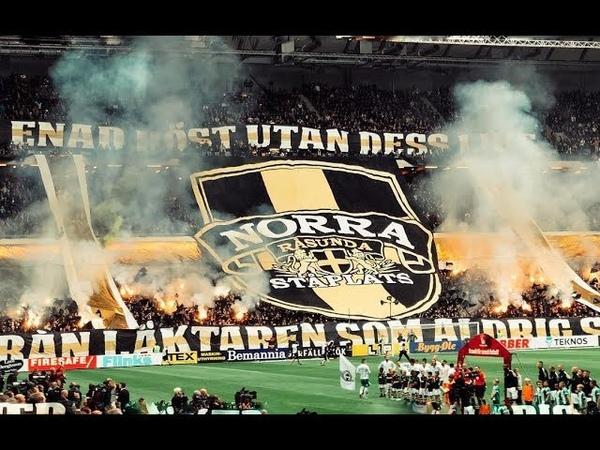 Choreo pyro ultras Aik AIK VS Hammarby 23 09 2018