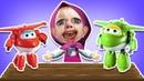 Мультик - РАСКРАСКА. Рисуем РОБОКАР ПОЛИ и Учим Цвета - Развивающее видео для детей