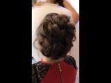 Причёска высокий пучок для Екатерины