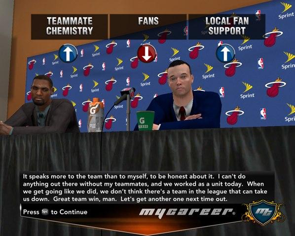 Прес-конференция после матча НБА2К13