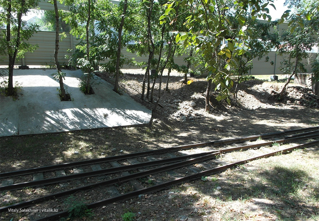 Железная дорога в Парке Горького Алматы