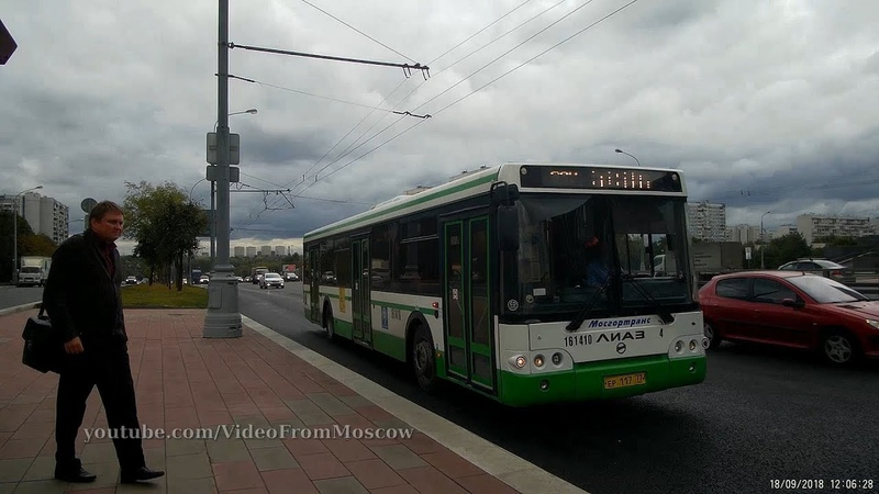Автобус 95 7-й м/р Орехова-Борисова - Капотня 18 сентября 2018
