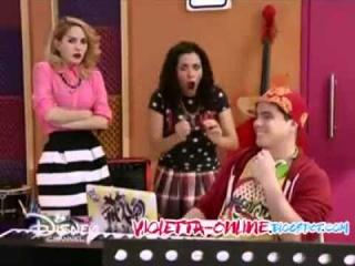 Виолетта 3 - Макси, Нати и Людми прослушивают запись песни