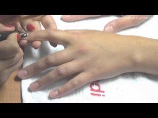 Дизайн ногтей с помощью фольги для литья