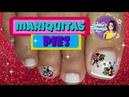 Diseño de uñas mariquita y flores - Ladybug flower Nail art