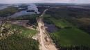 Строительство А - 121 Сортавала участок Приозерск - Карелия км 150 - 153 июнь 2018