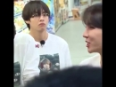 TAEHYUNG'S FACE THO WHEN THE MAN SAID THEY WILL GIVE THEM A FREE CHUNK OF MEAT