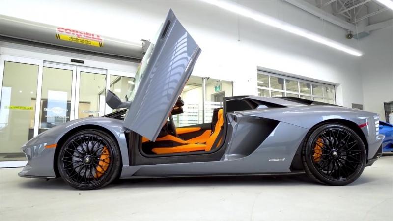 Delivery of Lamborghini Aventador S LP740-4 Roadster in Grigio Oneirus