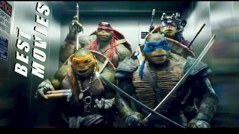 Черепашки-ниндзя дурачатся в лифте \ Ninja turtles fooling around in the elevator.