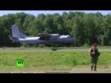 Посадка штурмовика Су-25СМ и транспортника Ан-26 на автомобильную трассу под Хабаровском