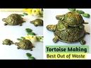 Diy Tortoise Making with Coconut Shell Diya coconutshellcraft bestoutofwaste diyturtlemaking