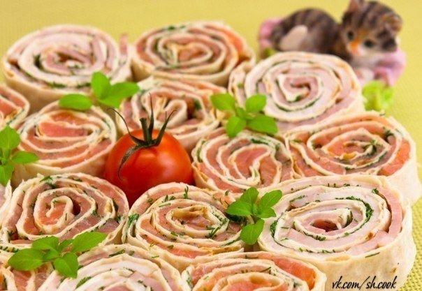 ТОР - 10 Рецептов приготовления замечательных закусок   1. Рулетики из