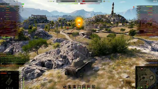 World of Tanks Карта УТЕС! Супер позиция!