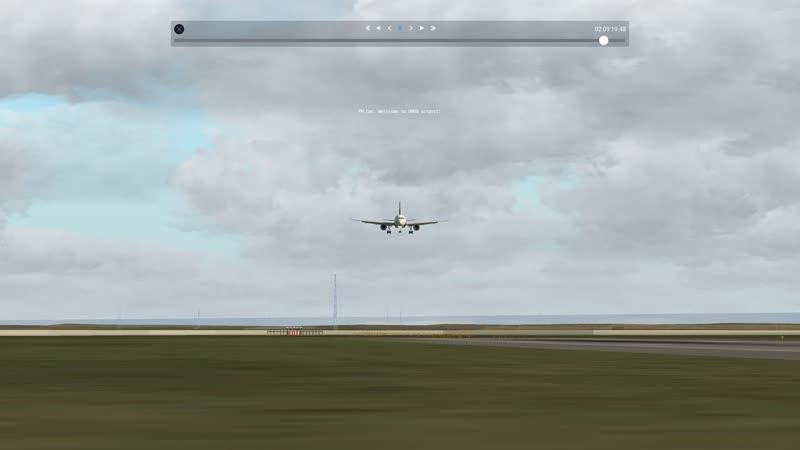 Мягкая посадка в Омске на А 319
