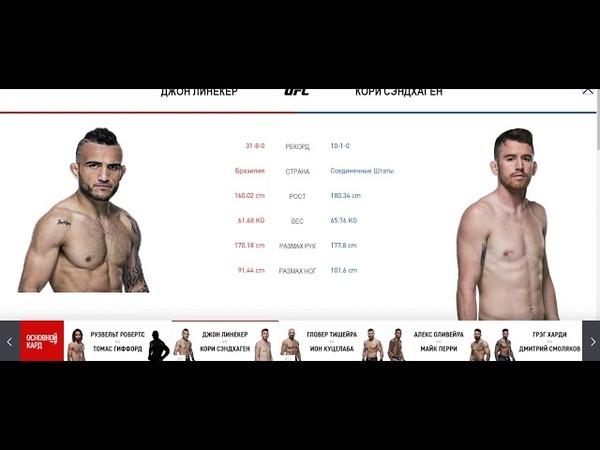 Прогноз от MMABets UFC on ESPN 9: Линекер-Сангаден, Робертс-Гиффорт. Выпуск №146.Часть 4/6