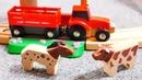Trens e carros construção da ponte BrioTrens de brinquedo