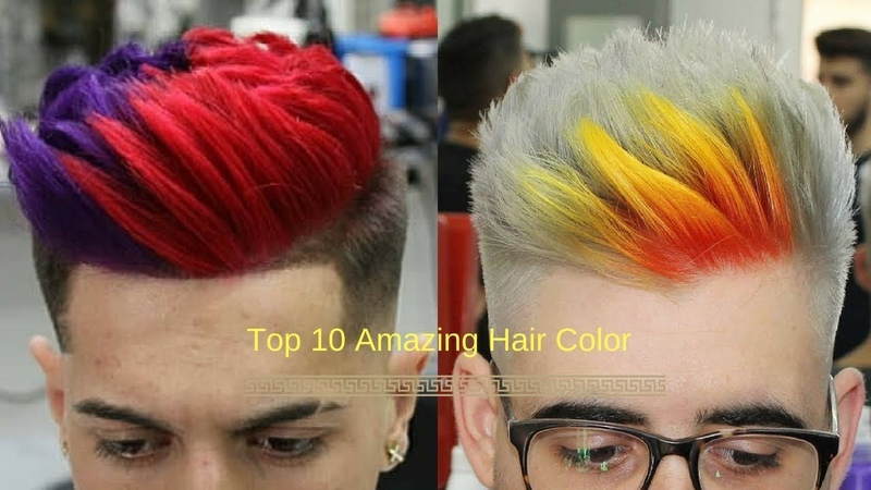 Top 10 Easy Beautiful Guy's Hair Color Trends !