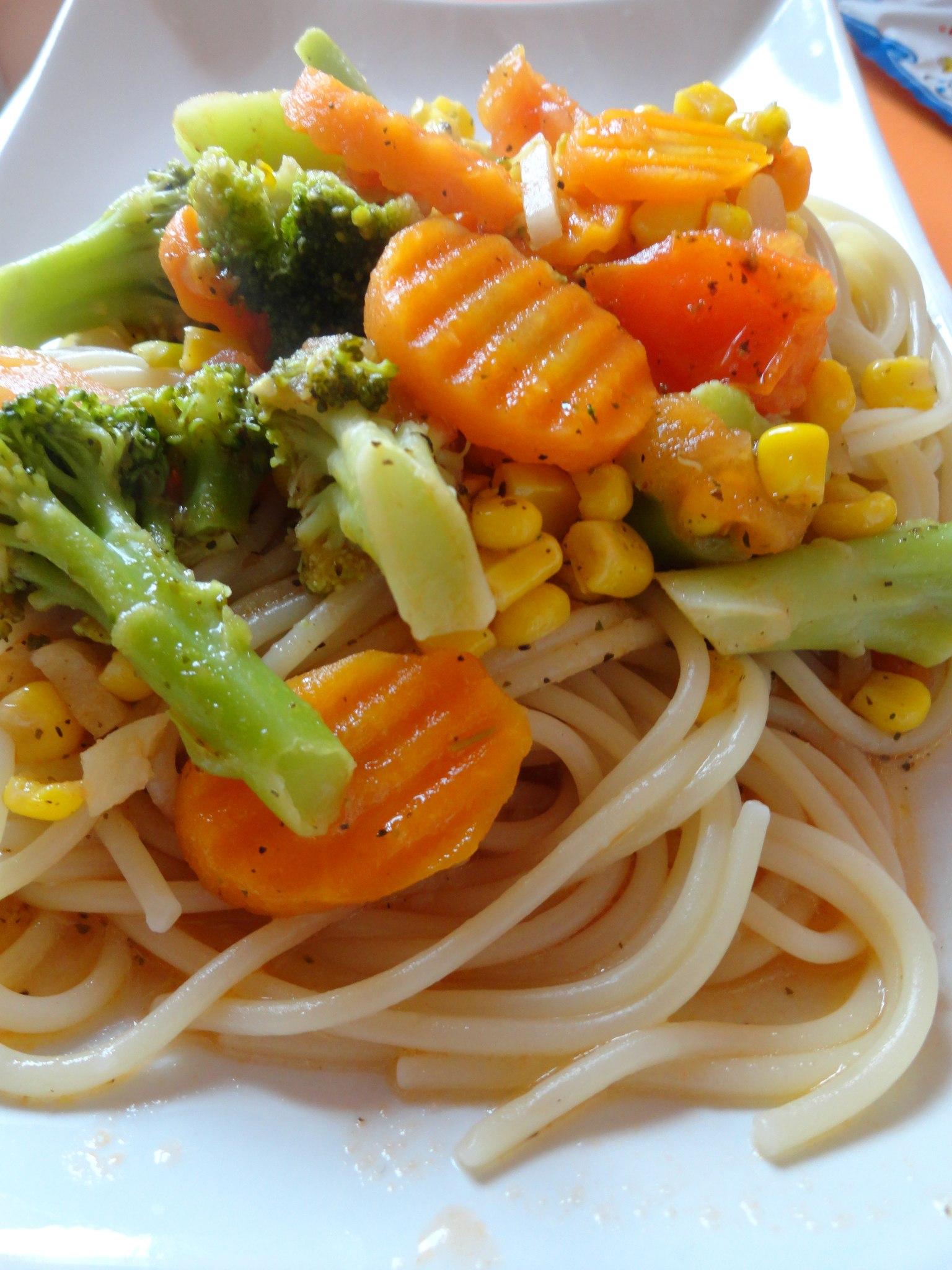 Овощные спагетти рецепт