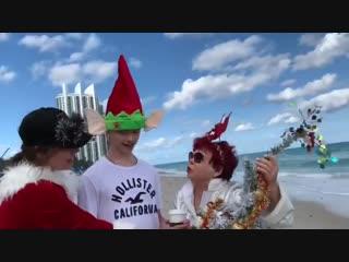 Наташа Королева с семьей отмечает Старый Новый год на берегу океана